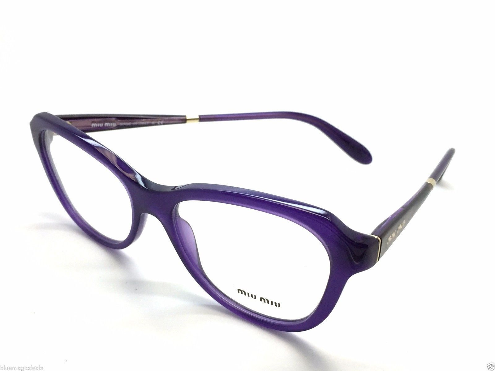 9ba8e30c36d S l1600. S l1600. Previous. NEW Miu Miu VMU 01N TFI1O1 Violet Gold New  Authentic Womens Eyeglasses 52mm 2518
