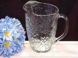 Princess House Fantasia Crystal Water or Ice Tea Pitcher, 56 Ounces, 1960s Mid  - $24.99