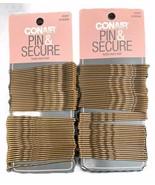 "Lot of 2 Conair Pin & Secure XL Bobby Pins Brown 2.75"" NEW - $12.16"