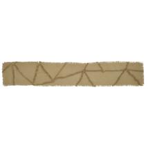 BURLAP NATURAL Reverse Seam Patch Runner - 13x72 - Table or Dresser - VHC Brands