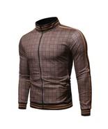 Men's Plaid Zipper Tracksuit Autumn Printed Sweatshirt Sports Suit Track... - $31.21