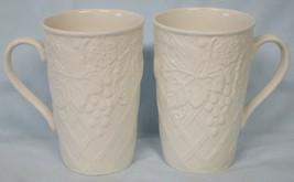 Mikasa White DP900 English Countryside Cappuccino Mugs Pair - $44.44