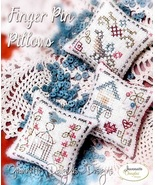 CLEARANCE Finger Pin Pillows chart + wool felt pack Jeanette Douglas Des... - $7.00