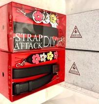 NIB GUESS Strap Attack DIY your Bag with logo color Black with floral multicolor - $14.99