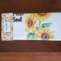 Kitchen Drying Mat, Sunflower Design, Let the Sunshine on Your Soul, Yellow image 1