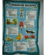 Bermuda Recipes Irish Linen Tea Towel By Ulster - $13.27