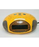Sony Dream Machine Yellow Psyc ICF-CD831 AM/FM CD Stereo Digital Alarm C... - $28.49