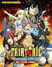 FAIRY TAIL Complete Box Set Vol.1-328END+2 Movies English Dubbed Ship From USA