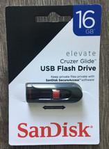 SanDisk Cruzer Glide USB Flash Drive 16 GB. Retractable Connector NIP - $9.75