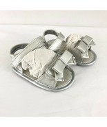 Michael Kors Toddler Girls Sandals Ankle Strap Bow Silver Size 2 - $29.02