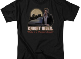 Knight Rider Retro 80's TV series Michael Knight graphic t-shirt NBC102 image 2