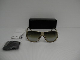 GIVENCHY New Sunglasses mens SGV 462 brown lenses gold gray frame authentic - $197.95