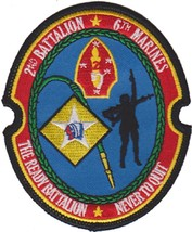 USMC 2nd Battalion 6th Marines PATCH  IRAQ  OIF Patch The Ready Battalion - $1,000.00