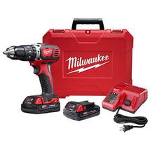 "Milwaukee M18 18V Li-Ion XC 1/2"" Compact Hammer Drill Driver Kit 2607-22... - $327.99"