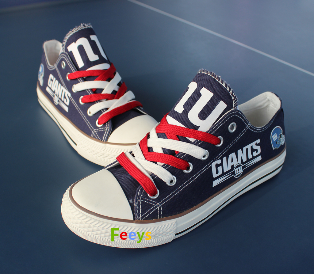 ny giants shoe women converse style giants sneakers tennis shoe custom fans gift