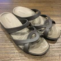 Crocs size 10 brown sandals  - $17.82