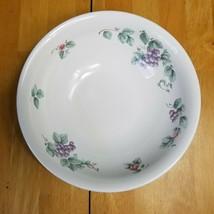 Pfaltzgraff Grapevine Vegetable Serving Bowl 8 Inch Purple Grapes Pink Flowers - $9.89