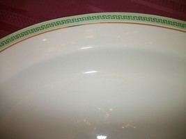 Johnson Bros England OVAL SERVING PLATTER GREEn GREEK KEY GOLD TRIM - $21.77