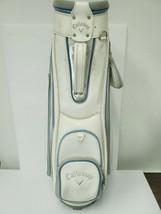 Callaway Golf Bag White/Gray/Blue 3 way Divider Vintage Cart Bag - $93.14