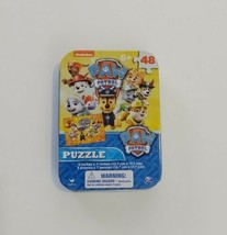 """Paw Patrol 48 Piece Puzzle In Collectors Tin 5"""" X7"""" Aged 6+ - $4.99"""