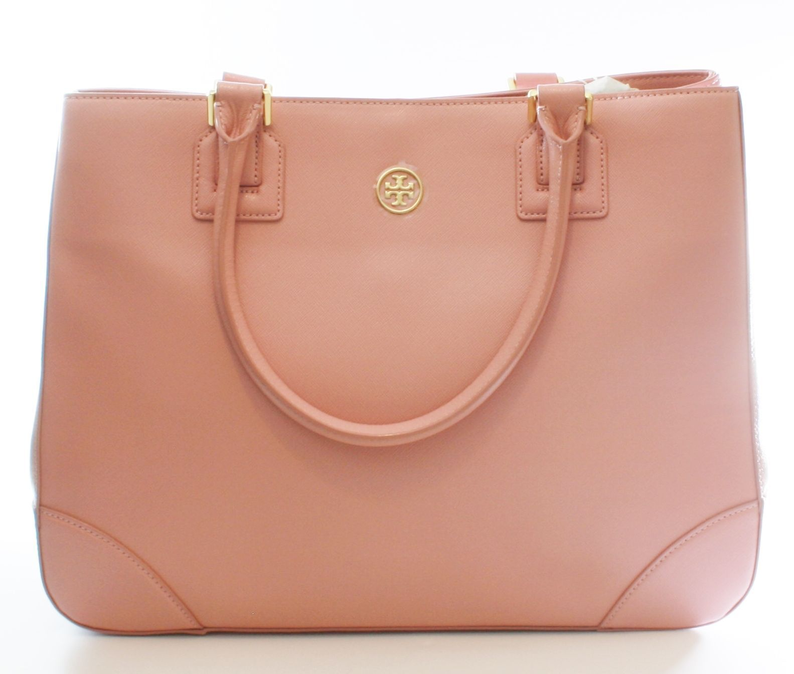 Primary image for Tory Burch Robinson Tote Bag Rose Sachet Pale Pink Leather Large Handbag