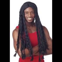 LONG Dreadlock Jamaican BLACK BRAID RASTA WIG Unisex Halloween Costume A... - £13.20 GBP