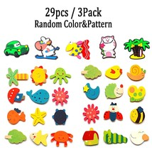 Animals Fridge Magnets For Kids, 24pcs Wood & 5pcs Silicone Refrigerator... - $12.77