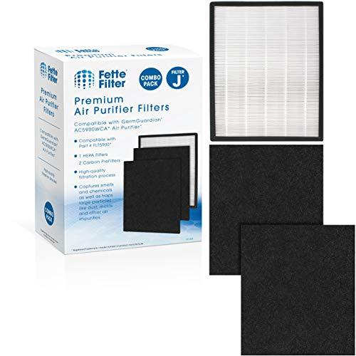 Fette Filter - Premium H13 True HEPA Replacement Filter J Compatible with GermGu