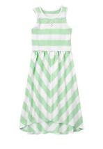 GYMBOREE NWT Fruit Punch Mint Striped Hi Low Hem Dress Size 6 (5-6 Years... - $20.89