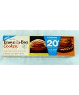"Vintage Reynolds Brown In Bag Cookery Large 6 Bags 14"" x 20"" Sealed Box ... - $19.99"