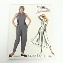 Vogue 1520 Pattern Carol Horn Jumpsuit Dress Size 8 Individualist Vintag... - $23.99