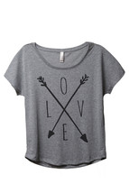 Thread Tank LOVE Cross Arrows aka Cross Love Arrows Women's Slouchy Dolman T-Shi - $24.99+