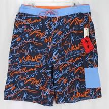 da76c1155e First Wave Board Shorts Size 36 Blue Orange Swim Trunks Roundtree &  Yorke New -