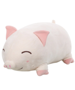 1PC 30cm Cute Fat Pig WHITE CLOSE EYES PLUSH M - ₹1,151.98 INR