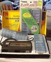 Kodak Tele-Instamatic 608 Camera NIB w/ 4 Focal Flip Flash Bars - $29.95