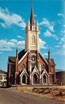 Vintage Chrome Postcard NV C402 St Marys Church Virginia City Street View - $5.50
