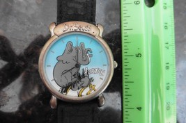 Dr Seuss Horton hears A Who Watch 1997 Vintage leather Tick Tooking Time... - $50.00