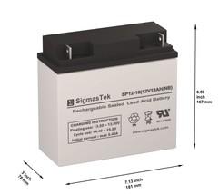 Panasonic LC-PD1217P Battery Replacement By SigmasTek Brand - $38.56