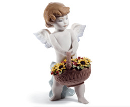 Lladro 01008676 HEAVEN'S HARVEST ( 60TH ANNIVERSARY)  8676 Angels  New - $480.00