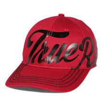 True Religion Men's Iconic Print Cap Sport Strapback Baseball Hat Ruby Red