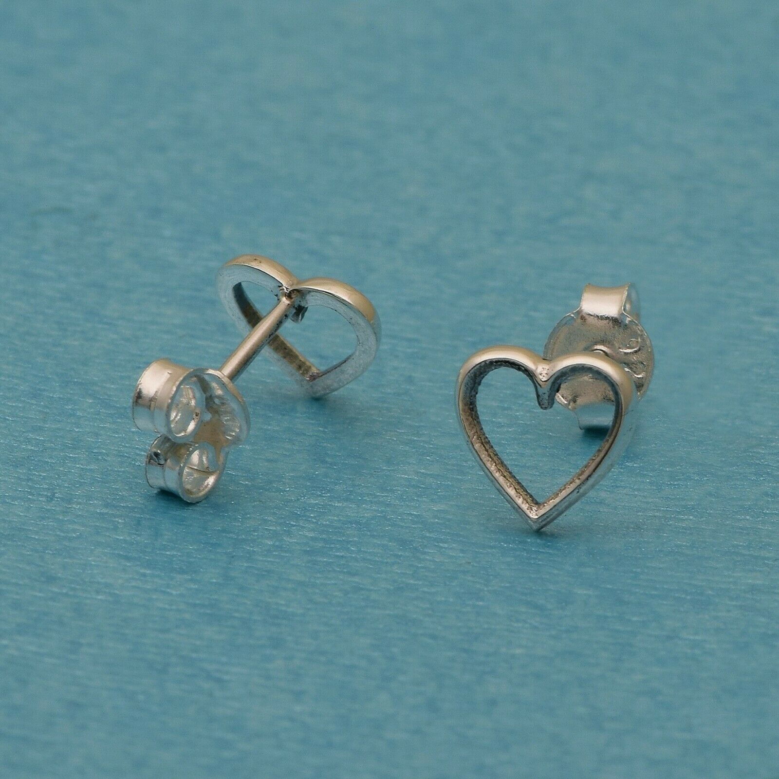 Ocean Wave,Pear Drop,Halbmond,Herz Design 925 Silber winzige Stud(Packung mit4)
