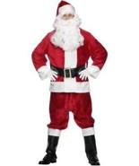 Plush Santa Suit Costume, One Size, Christmas Fancy Dress/Cosplay #CA - $156.32