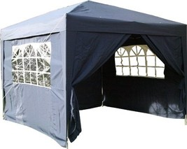 Pop Up Gazebo Blue Waterproof Instant Heavy Duty Market Stall Patio Gard... - $156.99