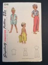 Simplicity Vtg Sewing Pattern 3248 Sz 1 Child Slack Short Pedal Pusher S... - $15.57