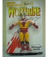 X-Men Bendable Wolverine Figure White Card 1988 - $9.79
