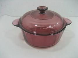 Vintage Corning Purple Amethyst Round Casserole Dish & Lid Model #1156 - $13.98