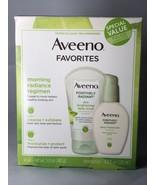 Aveeno Favorites from Positively Radiant Daily Scrub & Moisturizer Value... - $17.64