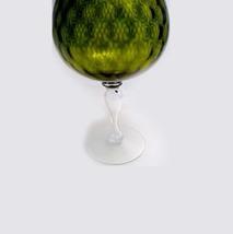 FENTON XLARGE Olive DIAMOND OPTIC Brandy Snifter Vase 1950s Mid Century Mod image 7