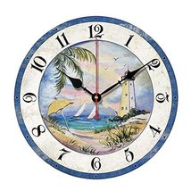"George Jimmy 10"" Retro Unique Lighthouse Wall Clock Decor Silence Hangin... - $48.65"