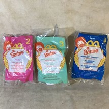 Lot Of 3 McDonald's Barbie 1996 Happy Meal Toys - $1.97